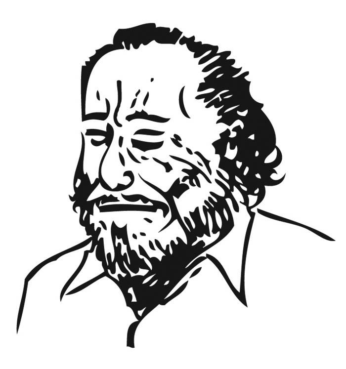 Charles Bukowski in schlichten Strichen